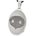 Stainless Steel Oval Actual Noseprint Jewelry with chamber