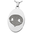 Silver Flat Oval Actual Noseprint Jewelry