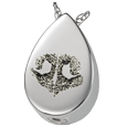 Silver Teardrop Noseprint Jewelry with compartment