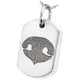 Silver Dog Tag Noseprint Jewelry with compartment