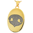 Yellow Gold Oval Actual Nose-print Jewelry with chamber