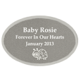 Small Silver Oval Engraved Memorial Plaque
