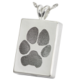 Chamber style sterling silver Wholesale B&B Rectangle Pawprint Jewelry