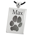 Wholesale Rectangle Pet Keepsake with paw print & name