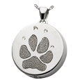 Wholesale B&B Silver Round Actual Pawprint Jewelry with compartment