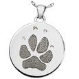 Silver Flat Round Actual Pawprint Jewelry