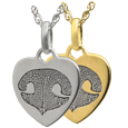 Wholesale Petite Heart Noseprint Flat Charm in silver or gold