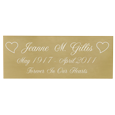 Wholesale Engraved Memorial Plaque- Small Brass Finish in script