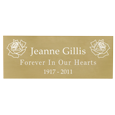 Wholesale Engraved Memorial Plaque- Small Brass Finish in block