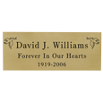 Wholesale Engraved Memorial Plaque- Small Brass Finish Black Fill block