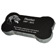 Wholesale Granite Pet Bone Marker shown with 1 photo