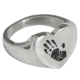 Wholesale Bold Heart Handprint Stainless Steel Ring