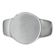 Front of Premium Stainless Steel Round Ring Cremation Jewelry