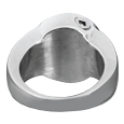 Wholesale Cremation Jewelry: Premium Stainless Steel Round Ring back shown