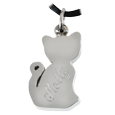 My Sweet Kitty Stainless Steel urn pendant shown with back engraving