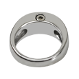 Urn opening shown at top of Premium Stainless Steel Zenith Ring