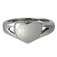 Premium Stainless Steel Simple Heart Ring shown engraved