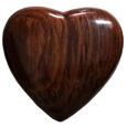 keepsake heart urn in dark wood finish