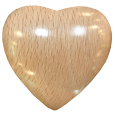 Wooden Keepsake Heart light wood option