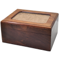 Wholesale Memory Chest Wooden Box Urn with Photo Window shown plain