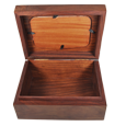 Interior shown of Wholesale Memory Chest Wooden Box Urn with Photo Window-