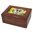 WholesaleMemory Chest Wooden Box Cat Urn with Photo Window