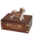 Wholesale Shih Tzu Figurine with gold engraved base