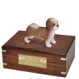 Wholesale Shih Tzu Figurine Cremation Urn with engraved plaque
