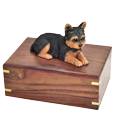 Wholesale Yorkshire Terrier, Puppycut figurine wood urn