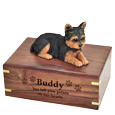 Wholesale Yorkshire Terrier, Puppycut figurine urn with engraved name