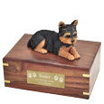 Wholesale Yorkshire Terrier, Puppycut figurine urn with engraved plaque