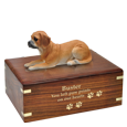Wholesale Puggle dog figurine urn with gold engraved base