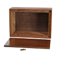 Wooden Box Urn Medium shown with open lid