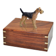 Wholesale Airedale terrier dog figurine urn