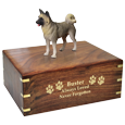 Wholesale Akita, Gray Dog Figurine Urn with gold engraving