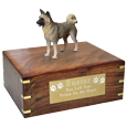 Wholesale Akita, Gray Dog Figurine Urn with engraved plaque