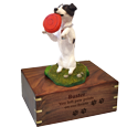 Wholesale Black + White Jack Russell Terrier urn engraved with name & dates