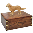 Wholesale Golden Retriever dog figurine urn with engraved front