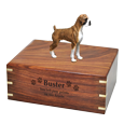 Wholesale Boxer Brindle Uncropped dog urn engraved on front
