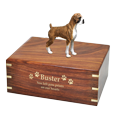 Wholesale Boxer Brindle Uncropped dog urn gold engraving