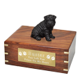 Wholesale Shar Pei dog figurine urn with engraved plaque