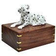 Wholesale Dalmatian Laying dog figurine wood urn