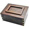Wholesale Perfect Wooden Box Photo Frame Dog Urn shown plain without photo