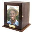 Elegant Photo Wood Full-size Square Urn personalized