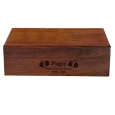 Pet epitaph engraved directly into wood urn