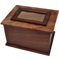 Wholesale Photo Wood Urn shown plain without photo