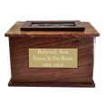 Wholesale Photo Wood Urn with engraved plaque