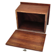 Urn compartment shown of Wholesale Photo Wood Urn