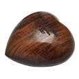 Side view of Wooden Keepsake Urn Heart