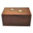 Wholesale Pet Urns: Paw Prints Wood Urn back